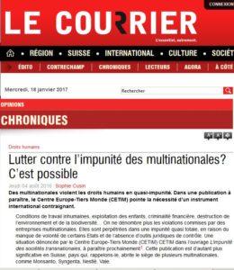 Article Sophie_Le Courrier