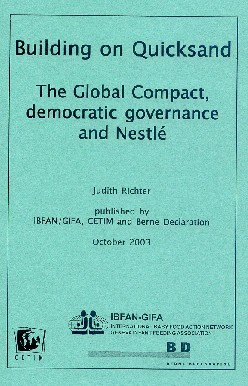 Building on Quicksand The Global Compact, democratic governance and Nestlé