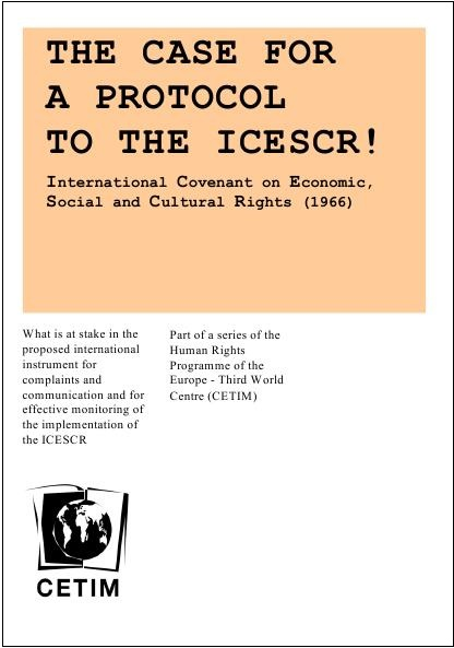 Case for a protocol to the ICESCR