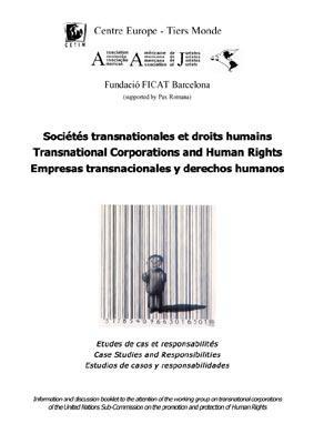 Empresas transnacionales y derechos humanos. Estudos de casos y responsabilidades