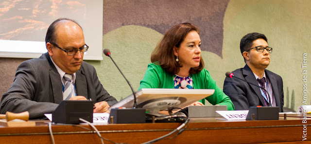 Ecuadorian Ambassador, Maria Fernanda Espinosa pronounces her first words as president-rapporteur