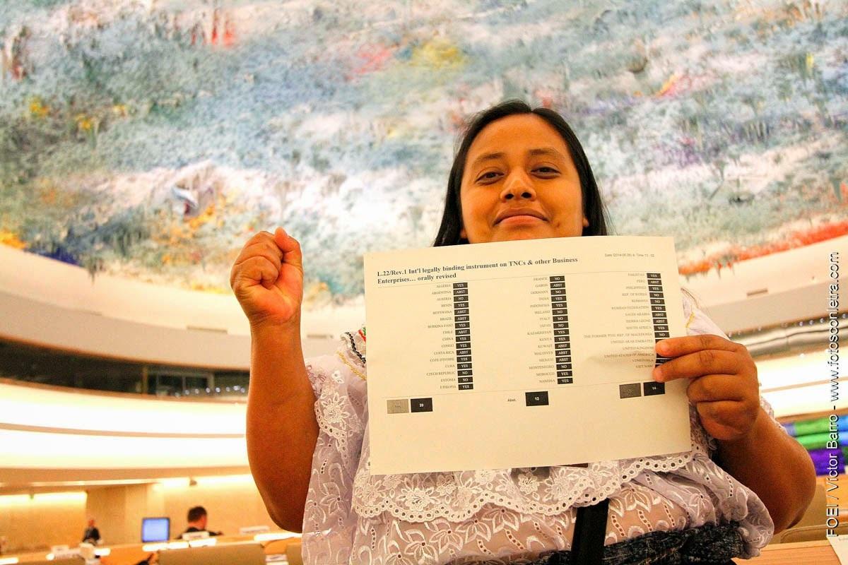 Le Conseil des droits de l'homme agit contre l'impunité des STN (juin 2014)