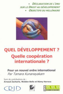 Quel développement-Quelle coopération internationale