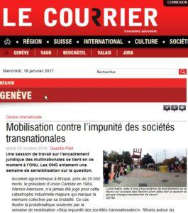 RÉGION GENÈVE Mobilisation contre l'impunité des sociétés transnationales _2017-01-18_14-23-17