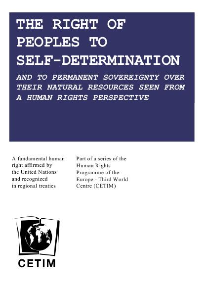 Right of peoples to self-determination
