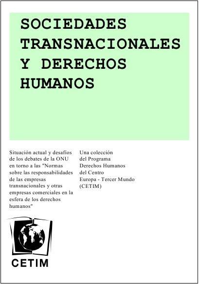 Sociedades transnacionales y derecho humanos