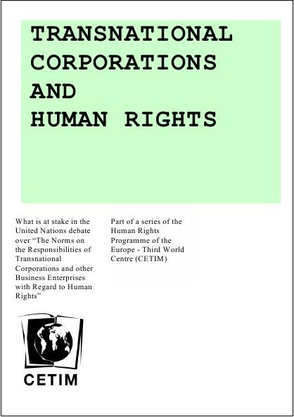 Transnational corporation and human rights